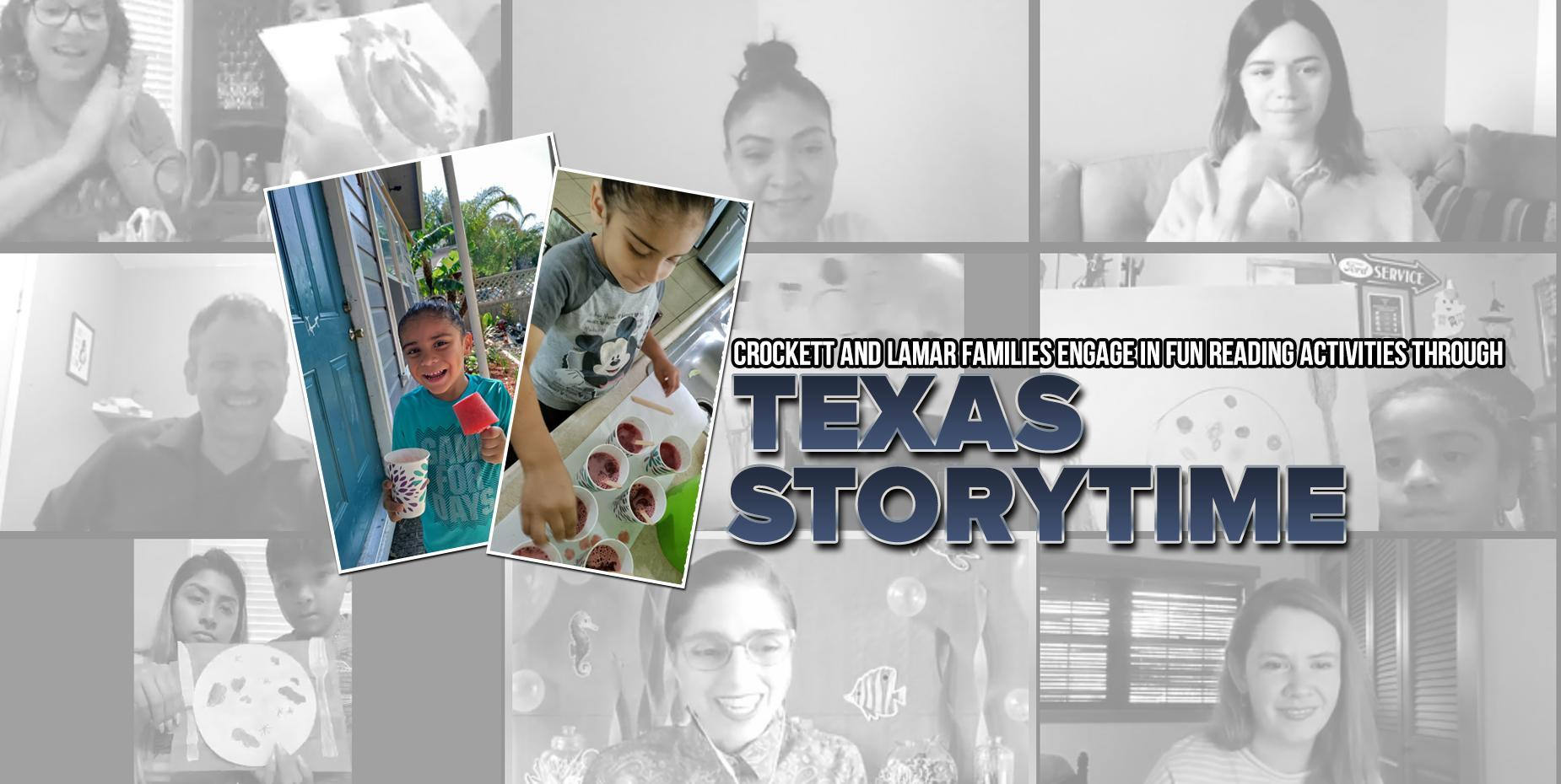 Crockett and Lamar families engage in fun reading activities through Texas Storytime