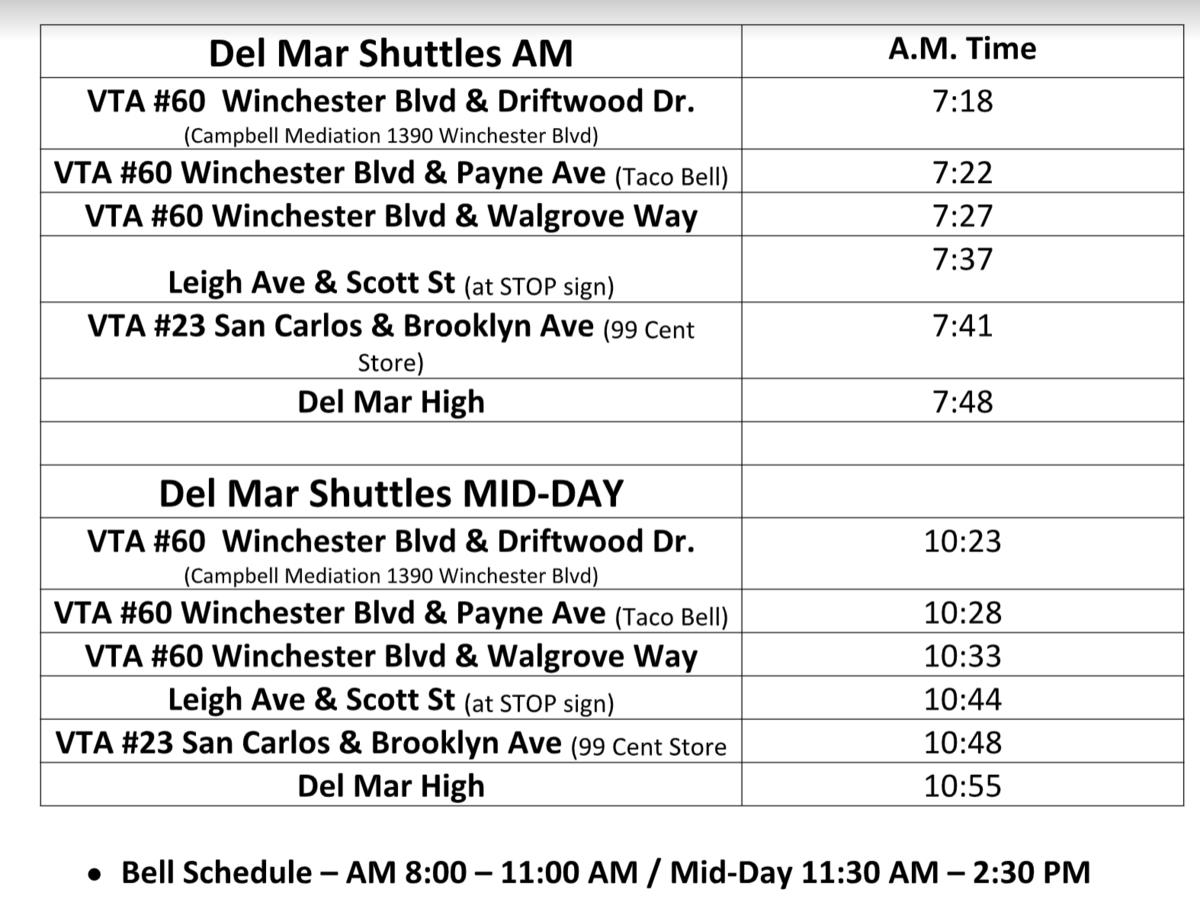 transportation schedule for summer school 2021