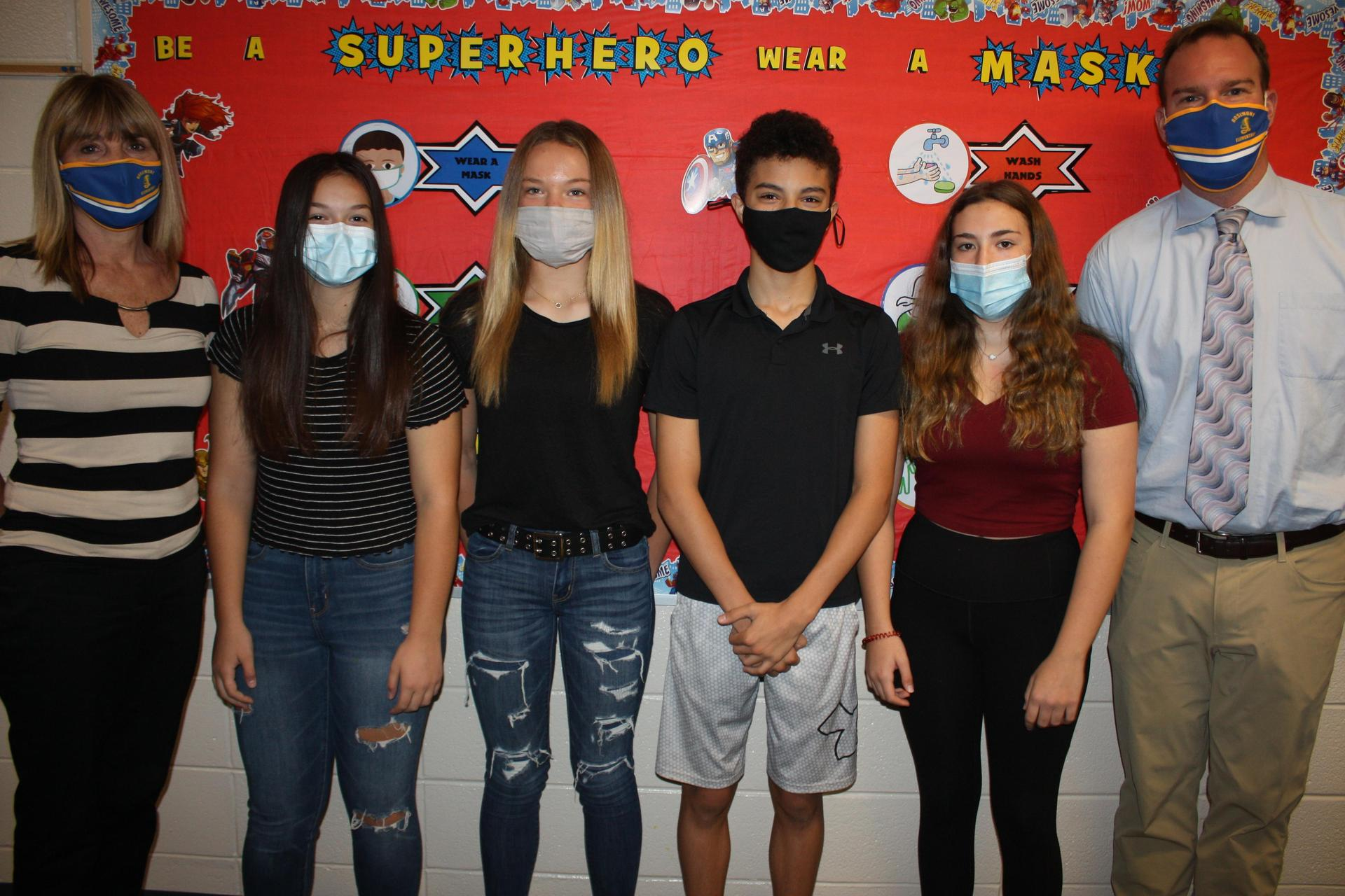 2020-2021 8th Grade Class Officers