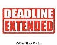 Deadline Extended clip art