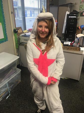 Student in costume
