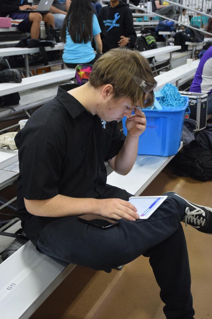 Daniel analyzing scouting data