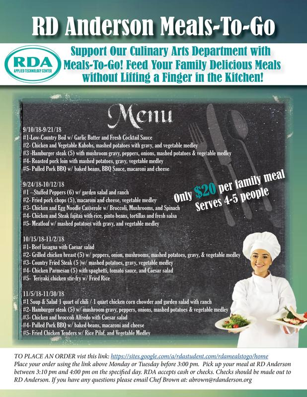 RDA Meals-To-Go Featured Photo