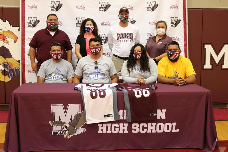MHS athlete, Rey Garcia, signs letter of intent.