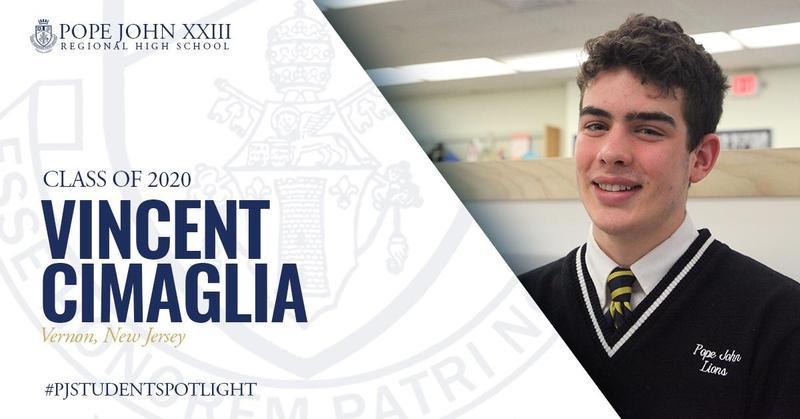 PJ Student Spotlight Vincent Cimaglia