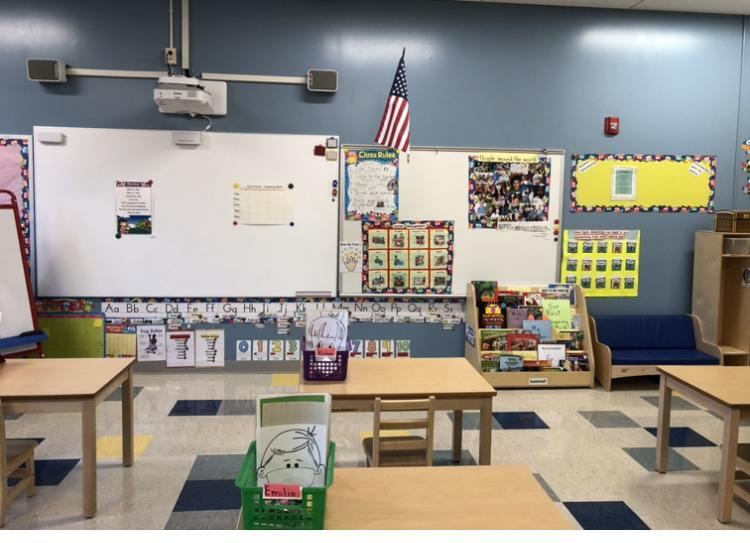 Elementary front of classroom