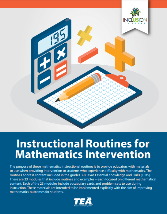 Image of front cover of math routines