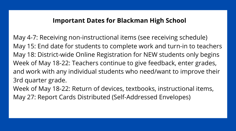 important dates may 2020