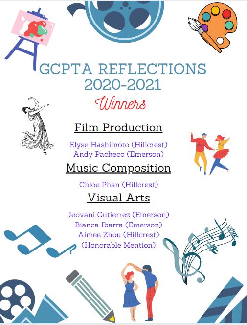 2020-2021 GCPTA Reflections Winners
