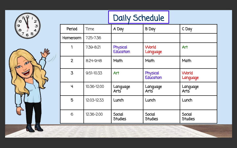 Mrs. Preston's Schedule