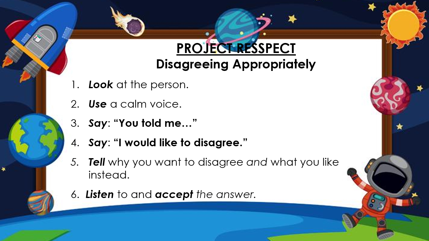 Project RESSPECT Disagreeing Appropriately