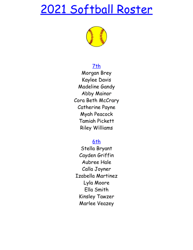 2021 Softball Roster Featured Photo