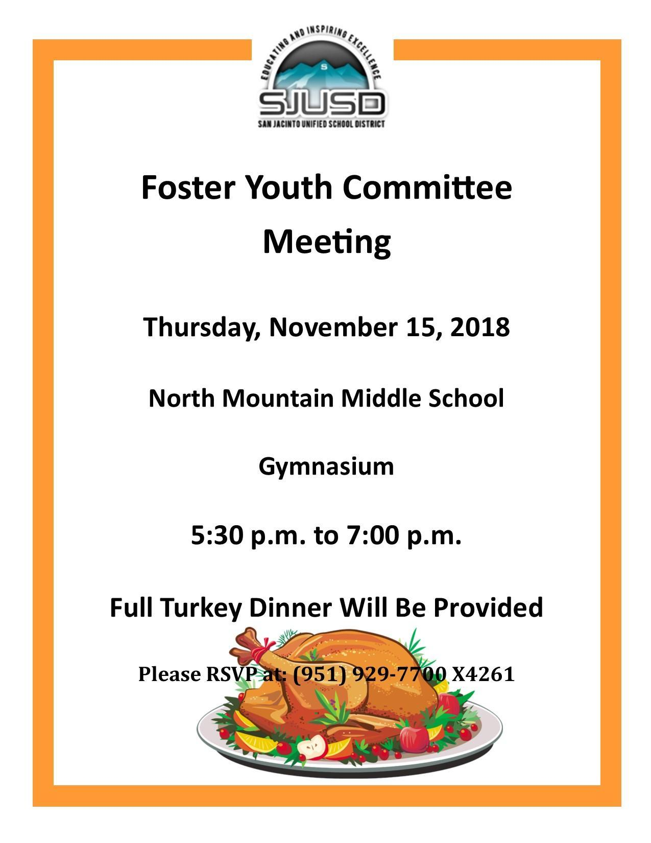 November Foster Youth Committee Meeting