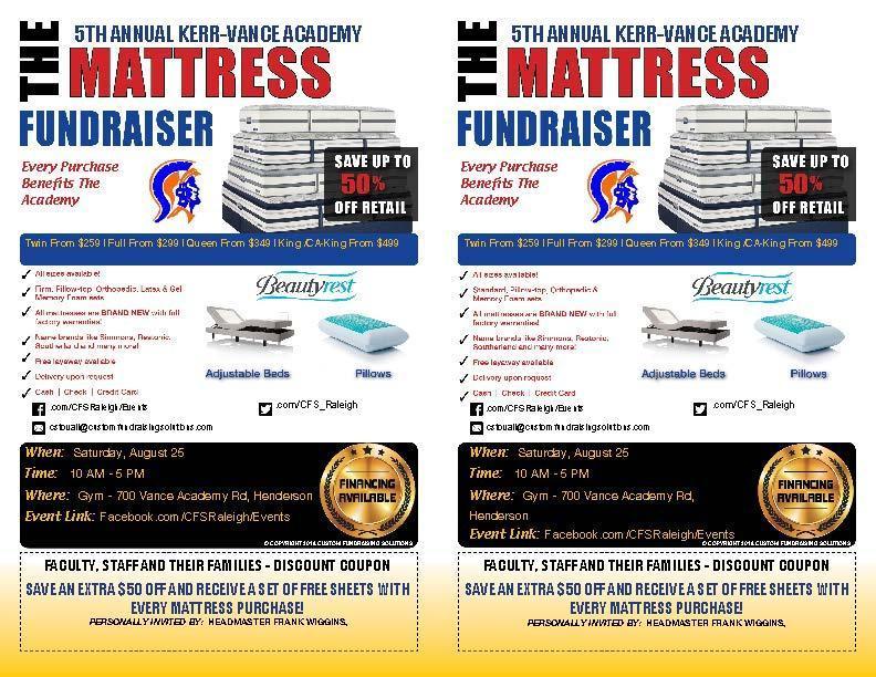 5th Annual Mattress Sale Fundraiser - Saturday August 25th -10 am - 5 pm Thumbnail Image