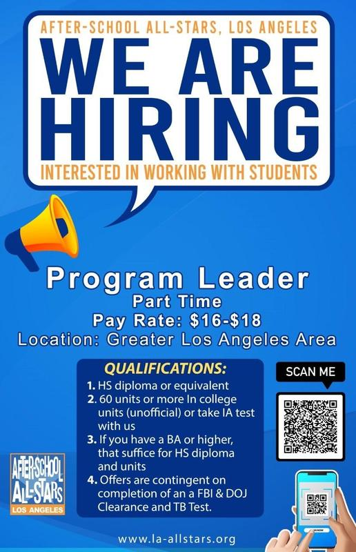 After- School All- Stars is Hiring! Thumbnail Image