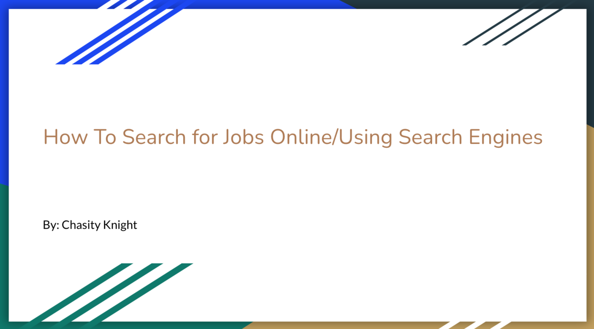 how to search for job online using search engines