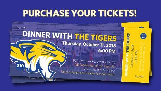 Dinner with the tigers graphic
