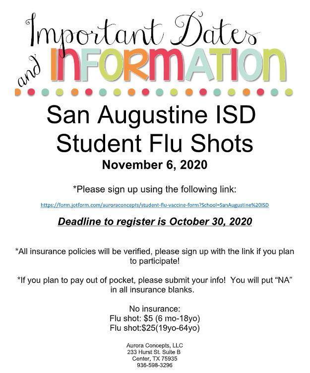 Student Flu Shots Info