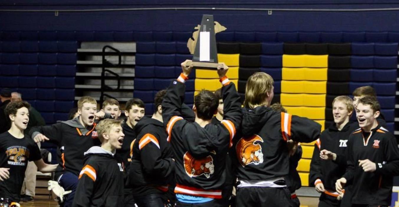 TKHS wins wrestling title.
