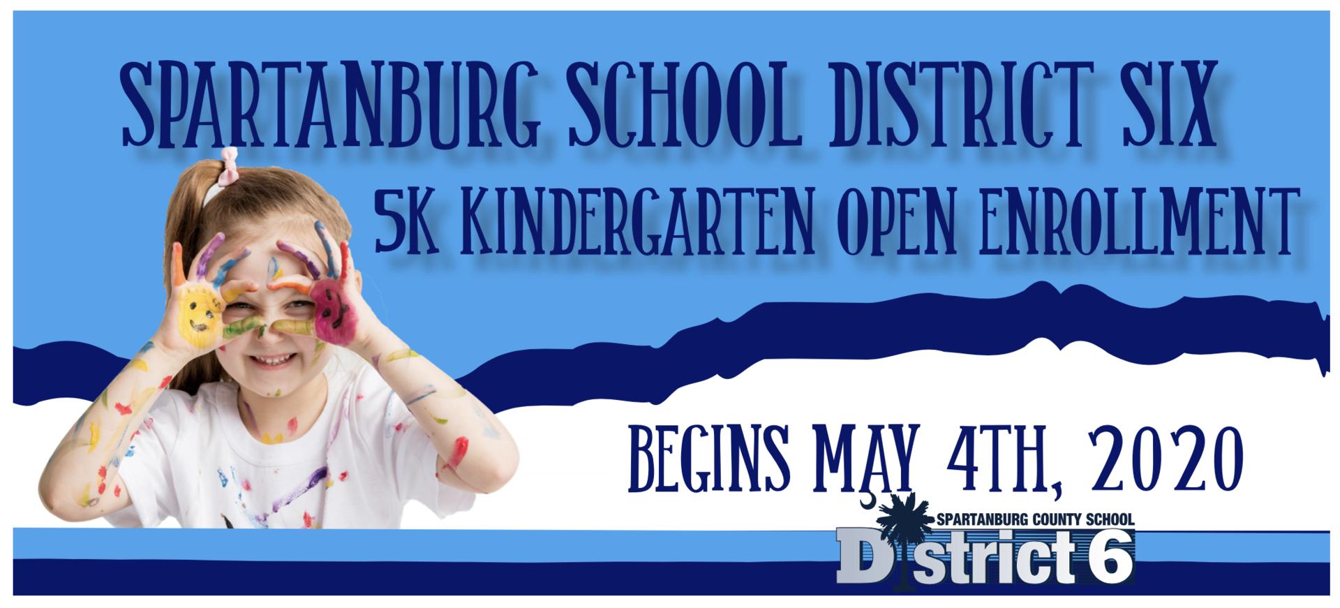 Kindergarten Open Enrollment Starts May4th