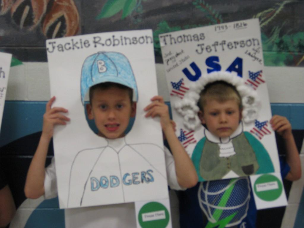 Wax Museum-Jackie Robinson and Thomas Jefferson