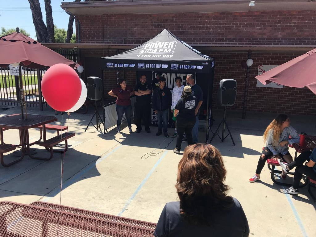 POWER 106 keeps lunch fun with music contests to celebrate the PBIS Launch.
