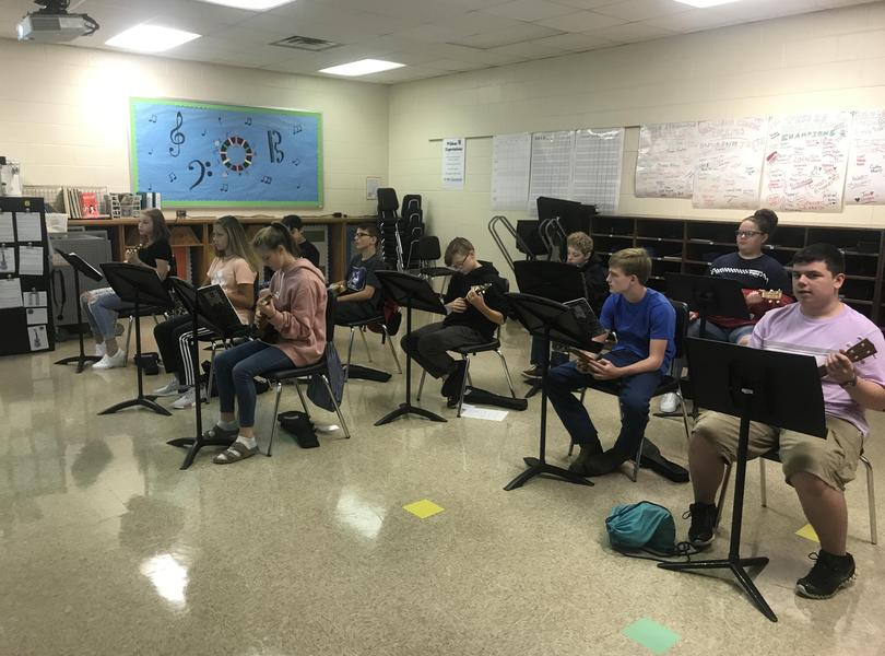 students in music