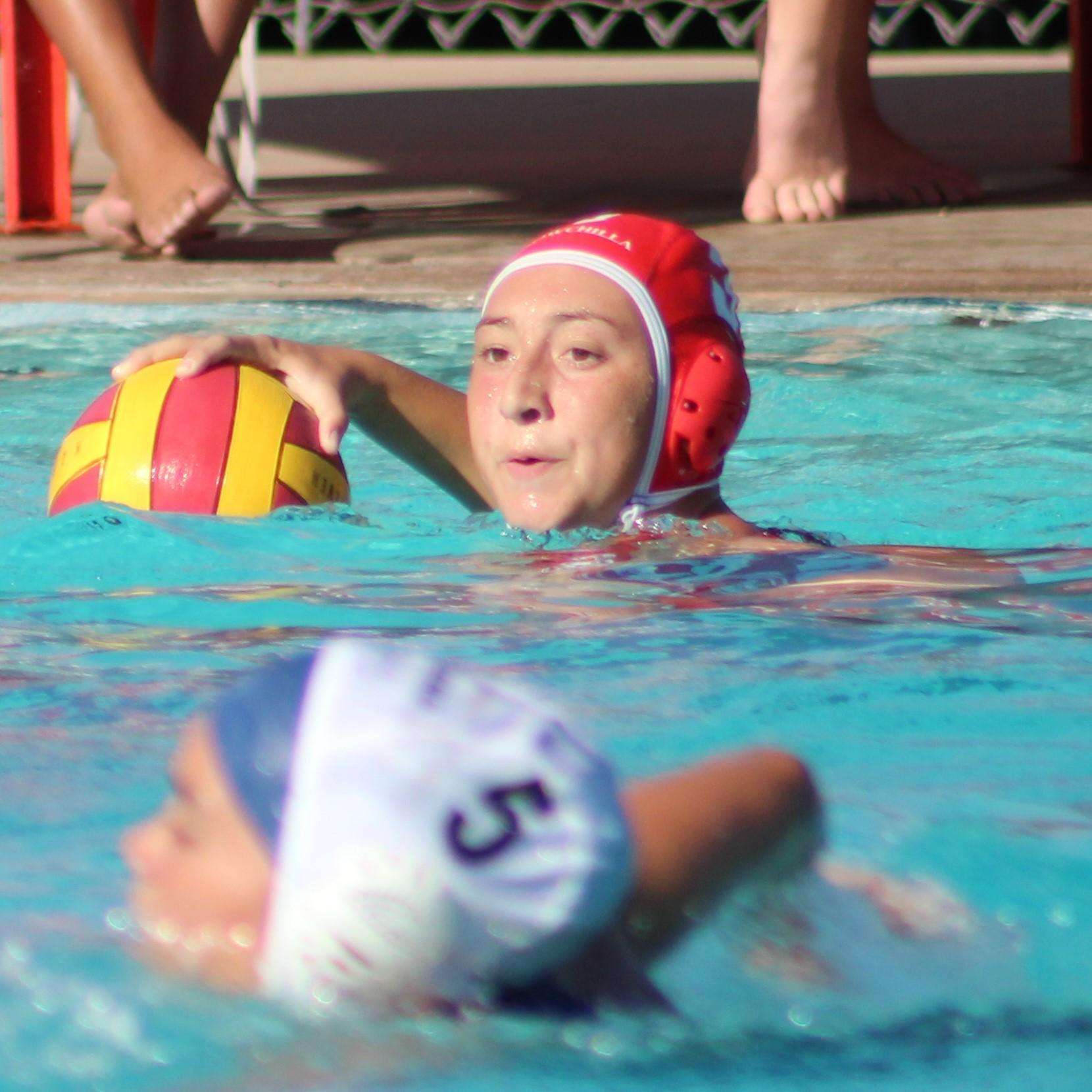 Girls playing water polo