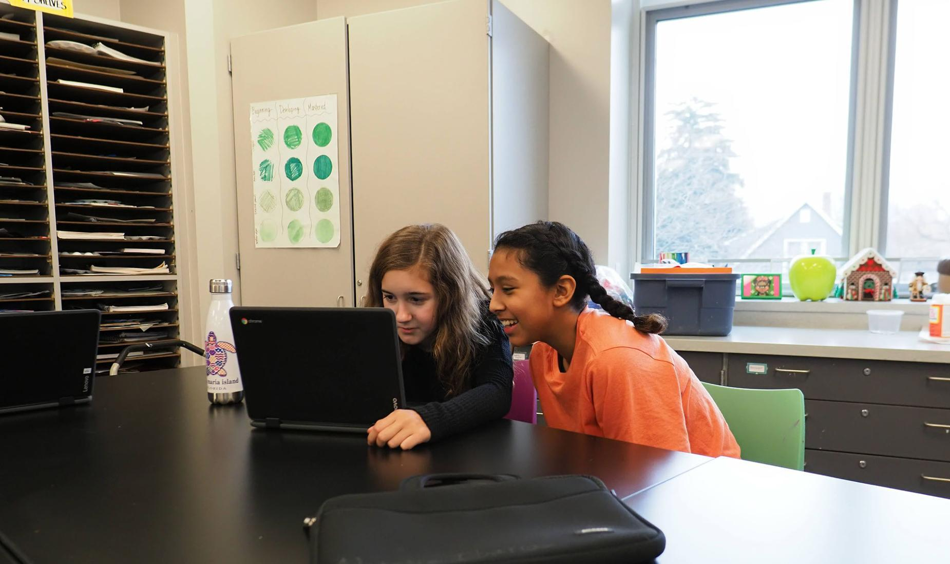 Students working together in the STEM Lab