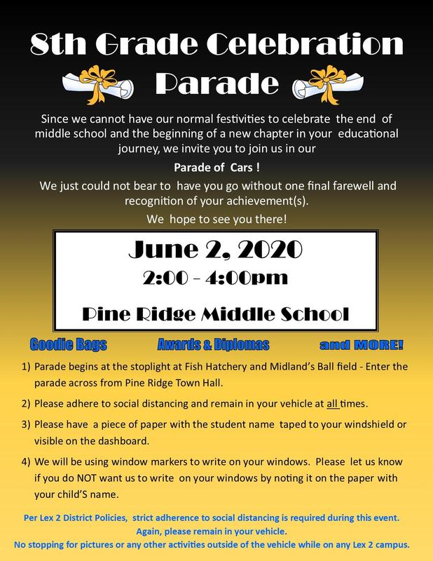 8th Grade Celebration flier