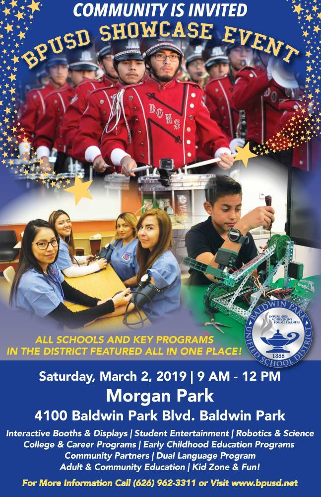 2019 Showcase Event Flyer BPUSD