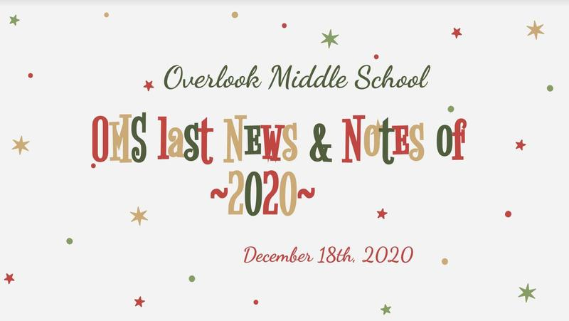OMS Weekly News 12/18/20
