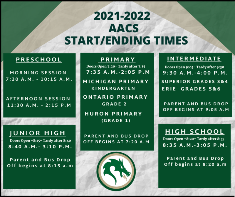 Click Here for 2021-2022 AACS Start/End Times Featured Photo