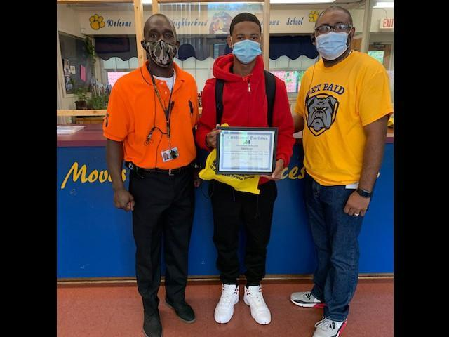 September Student of the Month 7th Grade