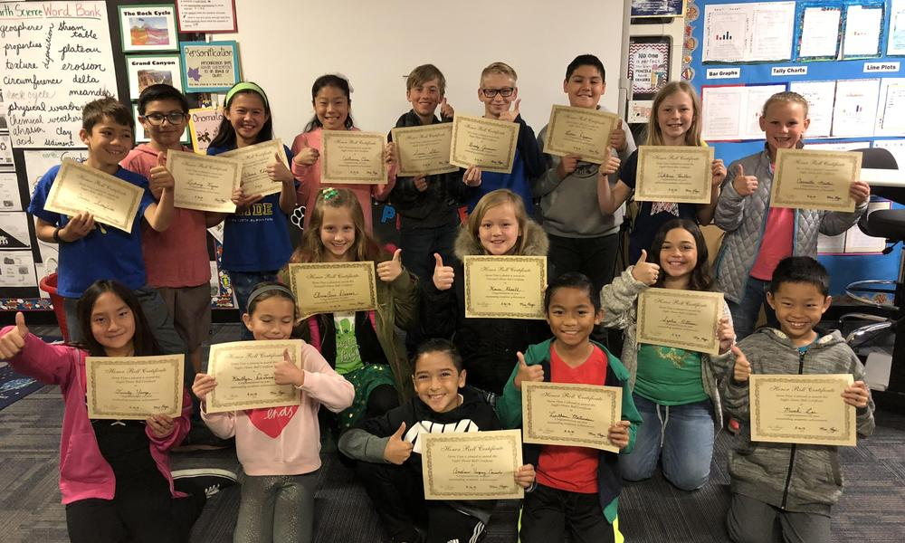 Mrs. Page's 4th Grade Honor Roll