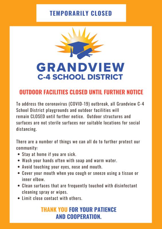 outdoor facilities closed