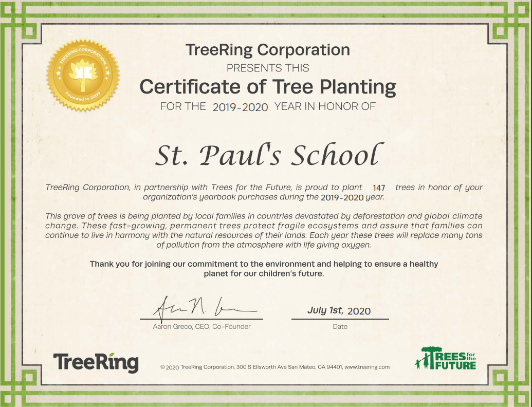147 trees planted