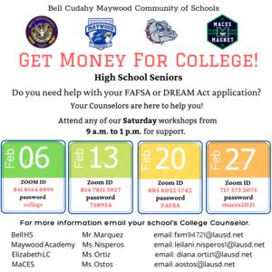 Feb. 13th Financial Aid Workshop!