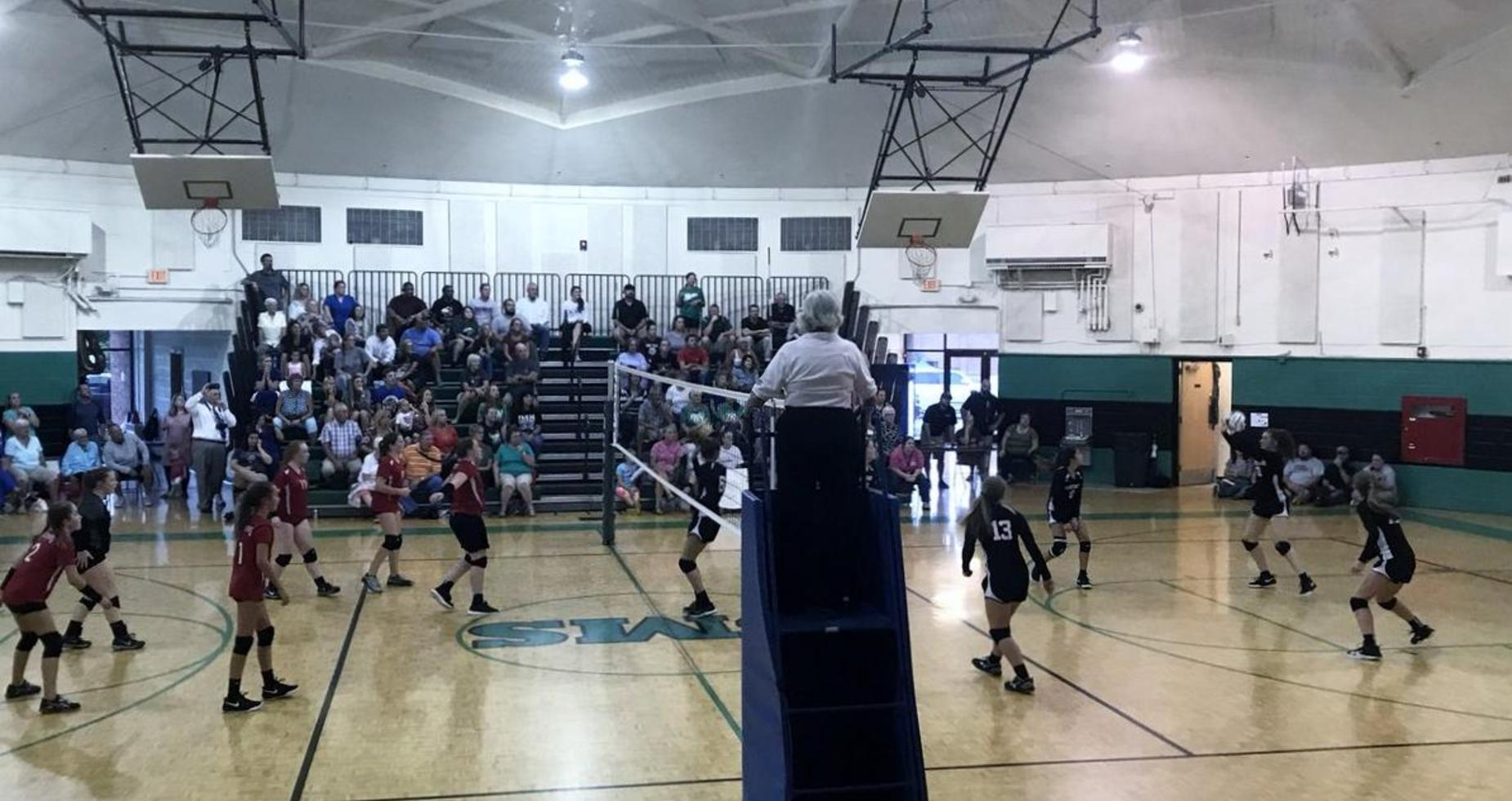 Picture of a volleyball game