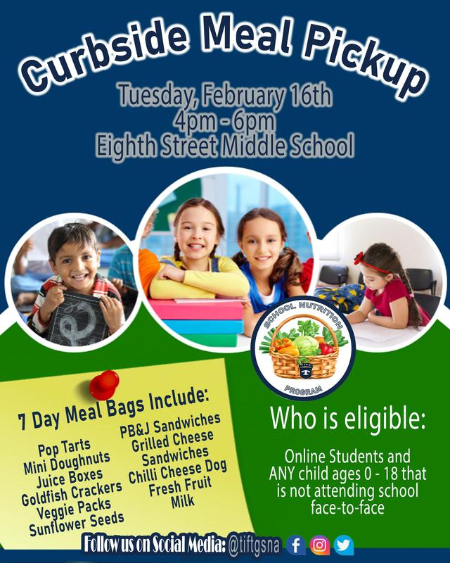 DATE CHANGE: Curbside Meal Pickup - Wednesday February 17th Featured Photo