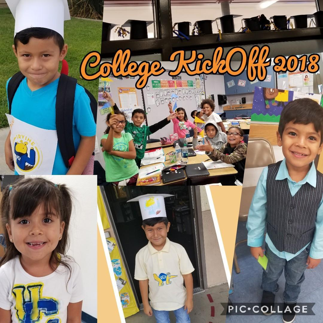 Sunnymead Elementary students dress in college attire for College Kick Off Day