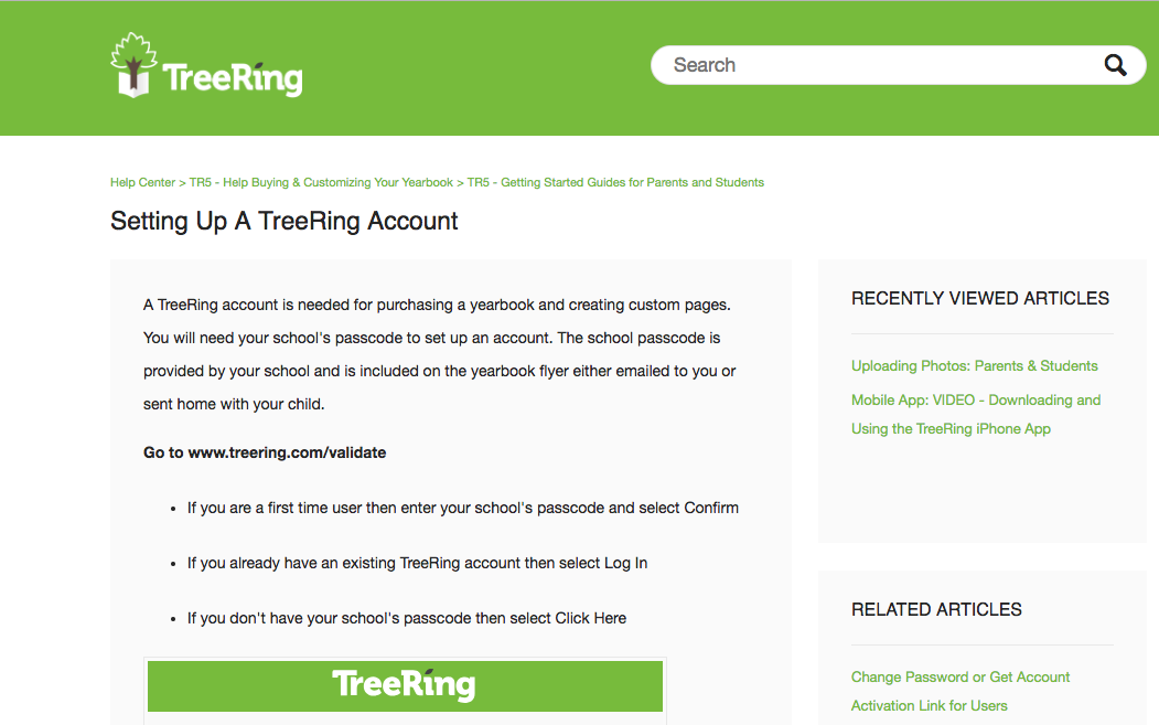 Setting Up a TreeRing Account