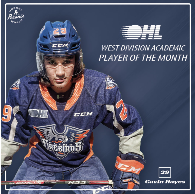 SOAR's Gavin Hayes earns Student-Athlete of the Month Award for the OHL Featured Photo
