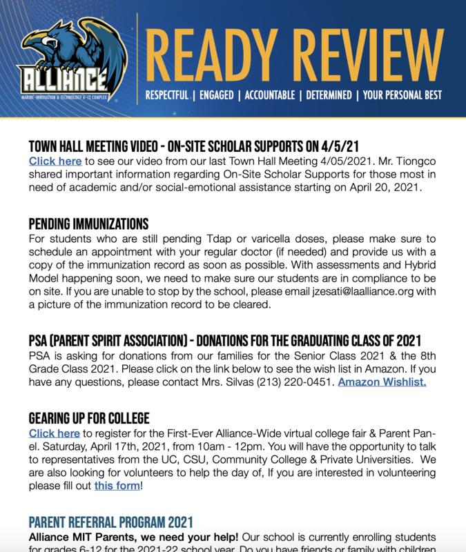 READY Review:  April 12 - 16, 2021 Thumbnail Image