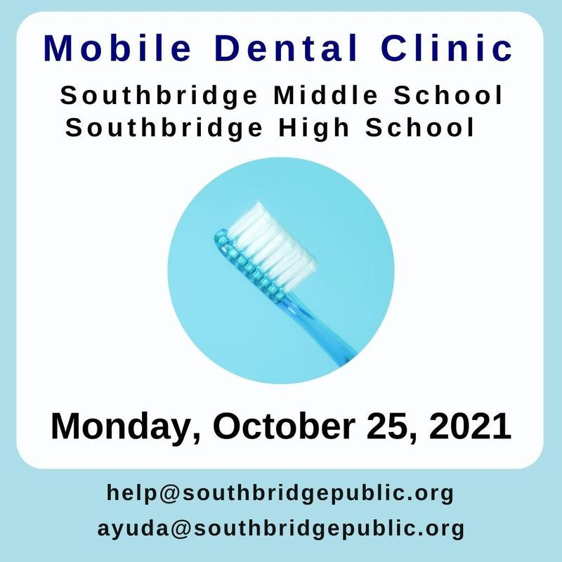 Graphic in English about the mobile dentist. All information is also in also the body of the post