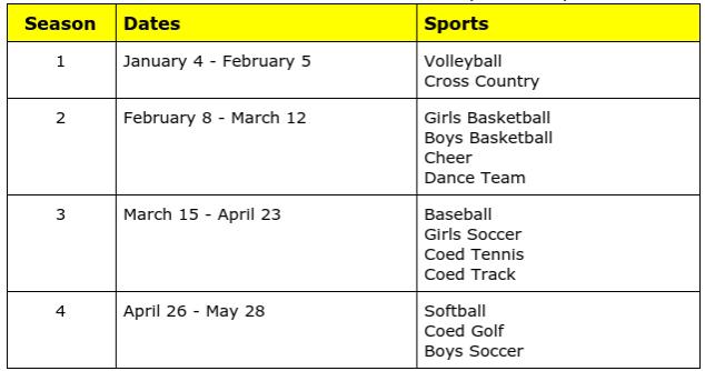 MS Sports schedules