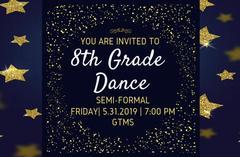 8th Grade Dance Friday May 31