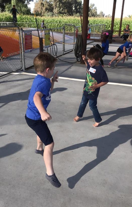 small boys dancing