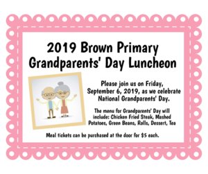 Grandparent's Day Luncheon Information