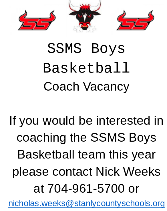 Basketball Coach Vacancy Featured Photo